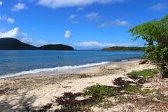 Plage de Tamarindo sur Culebra en Îles Vierges espagnoles de l'air photographie stock