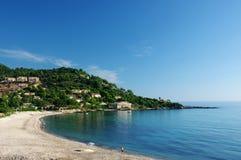 Plage de Tarco en Corse Photographie stock