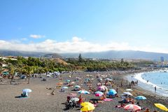 Plage de Tenerife Photos stock