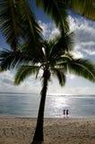 Plage de Titikaveka dans le cuisinier Islands de Rarotonga Photo libre de droits