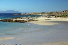 Plage de Torastan, île de Coll Photographie stock libre de droits