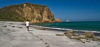 Plage de Tortuguita, parc national de Machalilla Images libres de droits