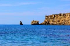 Plage de Triopetra en Crète Photo libre de droits