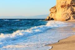 Plage de Tropea, Calabre, Italie Photographie stock libre de droits