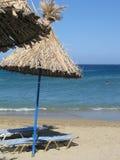 Plage de Vai en Crète Image libre de droits