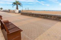 Plage de Valras, playa en Francia meridional Fotografía de archivo libre de regalías