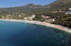 Plage de Valtos près de Parga en Grèce Images libres de droits