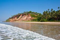 Plage de Varkala, avec des vues de la mer sur la falaise Photos libres de droits