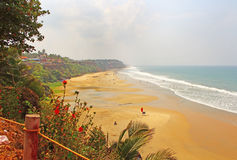 Plage de Varkala Inde du sud pouvez Image stock