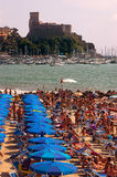 Plage de Venere Azzurra - Lerici Italie Photographie stock