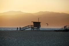 Plage de Venise en Californie Images libres de droits