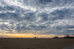 Plage de Venise en Santa Monica, CA photo stock