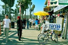 Plage de Venise, Etats-Unis Photos stock