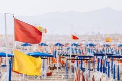 Plage de Viareggio, Italie, Toscane photographie stock libre de droits