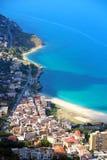 Plage de Vierge Marie, Palerme, Italie Photographie stock libre de droits