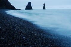 Plage de Vik i Myrdal, Islande Photo libre de droits