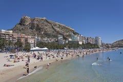 Plage de ville d'Alicante photo libre de droits