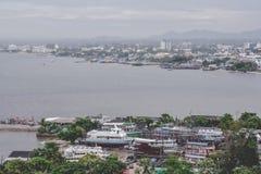 Plage de ville de Pattaya au point de vue, Pattaya, Thaïlande Image stock