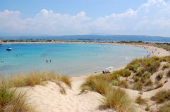 Plage de Voidokilia, geece Photo stock