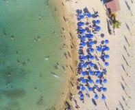 Plage de vue aérienne, Protaras, Chypre image libre de droits