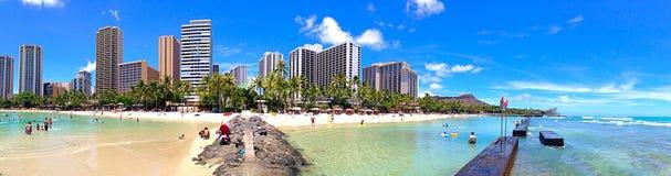 Plage de Waikiki Image stock