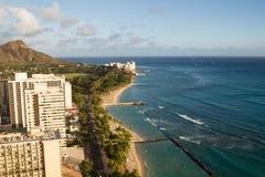 Plage de Waikiki, Honolulu Photos stock