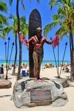 Plage de Waikiki, Honolulu, Oahu, Hawaï Photographie stock