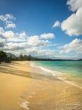 Plage de Waimanalo, Hawaï Images libres de droits