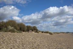 Plage de Walberswick, Suffolk, Angleterre photo stock