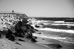 Plage de Westerplatte Photographie stock libre de droits