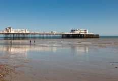Plage de Worthing, le Sussex occidental, le 17 mars 2014 Images libres de droits