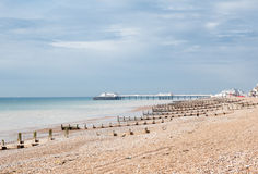 Plage de Worthing, le Sussex occidental, Royaume-Uni photographie stock