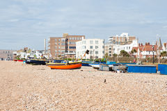 Plage de Worthing, le Sussex occidental, Royaume-Uni images stock
