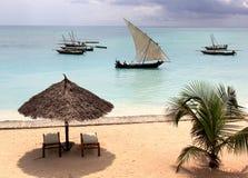 Plage de Zanzibar Photo libre de droits