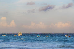 Plage des Caraïbes tranquille photographie stock