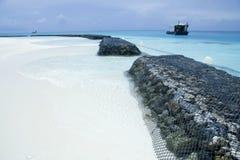 Plage des Maldives Photographie stock libre de droits