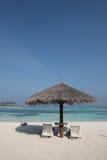 Plage des Maldives Photos libres de droits