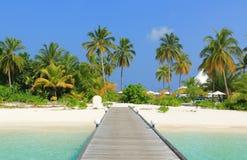 Plage des Maldives Image libre de droits