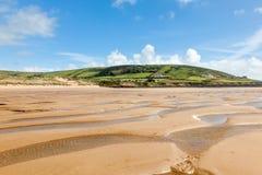 Plage Devon England R-U de Croyde Photographie stock libre de droits
