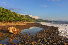 Plage dominicale, Costa Rica Photographie stock