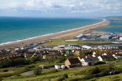 Plage Dorset Angleterre de Chesil photographie stock libre de droits