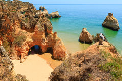 Plage Dos Tres Irmaos Portugal d'Algarve Photographie stock