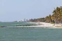 Plage du Golfe du Mexique à Naples, la Floride Photographie stock libre de droits