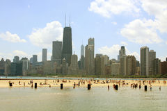 Plage du nord Chicago Images stock