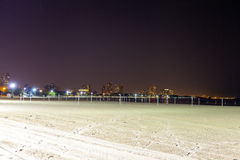 Plage du nord la nuit Photo stock