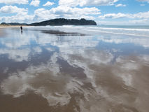 Plage du Nouvelle-Zélande Photographie stock libre de droits