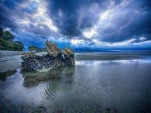 Plage du Nouvelle-Zélande Images libres de droits