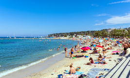 Plage Du Ponteil, Antibes, Cote D`Azur, France Royalty Free Stock Photography