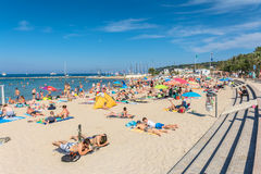 Plage du Ponteil, Antibes, Cote D`Azur, France Stock Photos