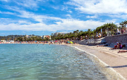 Plage Du Ponteil, Antibes, Cote d ` Azur, Francja Zdjęcie Royalty Free